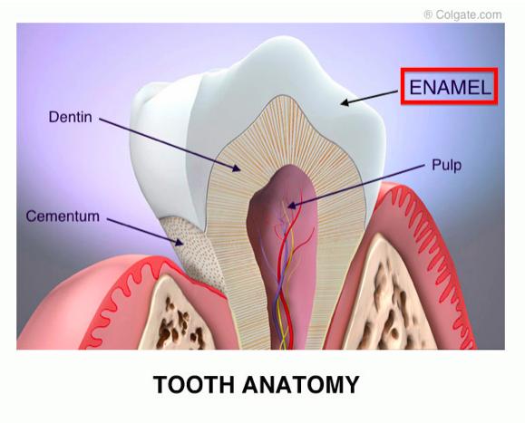 عوامل آسیب به مینای دندان,dental-enamel